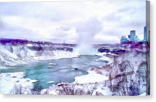 Winter In Niagara 1 Canvas Print