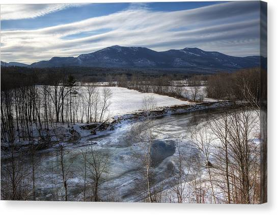 Winter In North Conway Canvas Print