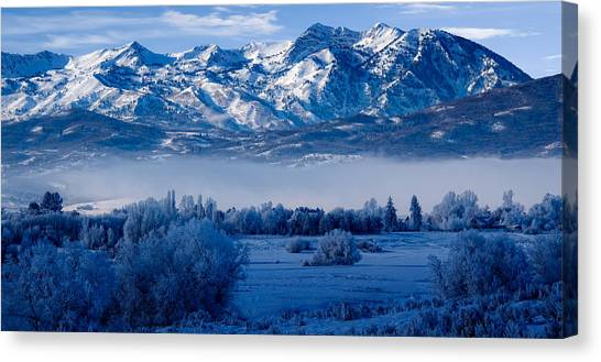 Winter In Ogden Valley In The Wasatch Mountains Of Northern Utah Canvas Print