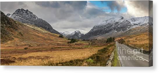 Pen Yr Ole Wen Canvas Print - Winter In Snowdonia by Adrian Evans