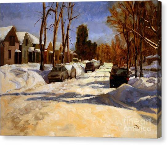 Winter In The Highlands Canvas Print by Tate Hamilton