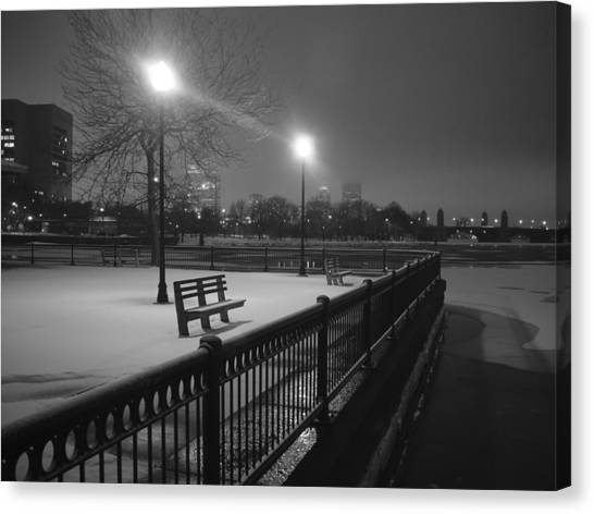 Winter In The Park Canvas Print by Eric Workman
