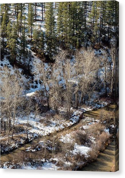 Winter In The Susan River Canyon Canvas Print by The Couso Collection