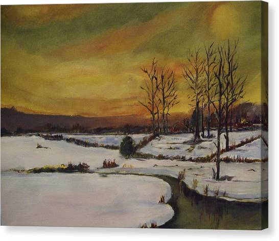 Winter In Upstate New York Canvas Print
