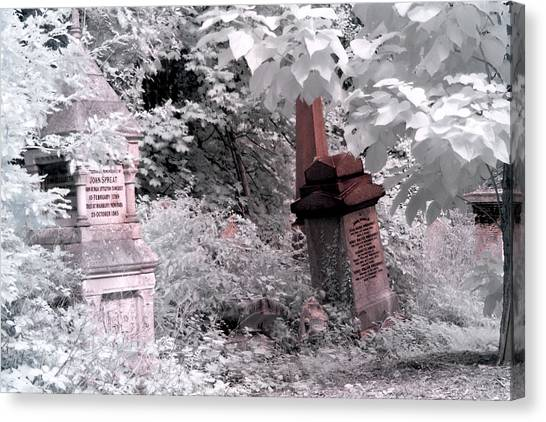 Winter Infrared Cemetery Canvas Print
