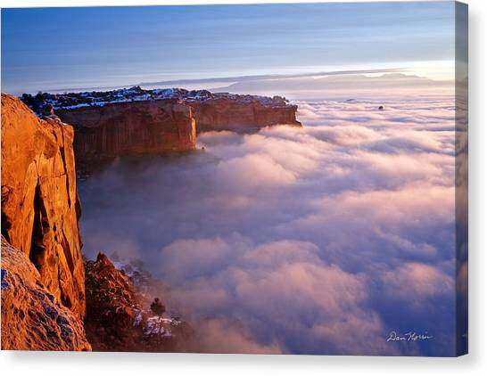 Winter Inversion At Sunrise Canvas Print