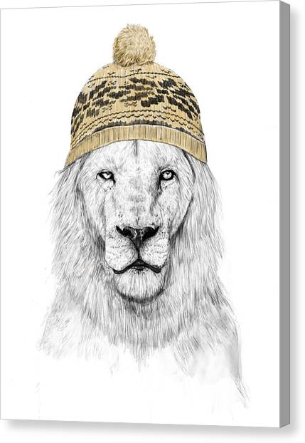 Lions Canvas Print - Winter Is Coming by Balazs Solti