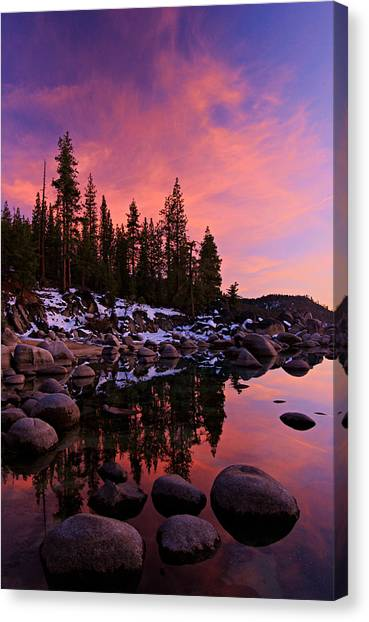 Canvas Print featuring the photograph Winter Is Coming by Sean Sarsfield