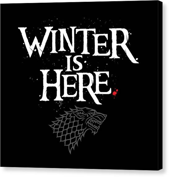 Stark Canvas Print - Winter Is Here - Stark Sigil by Edward Draganski