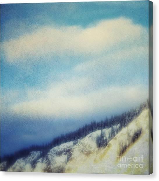 Treeline Canvas Print - Winter Is So Quiet It Needs No Words by Priska Wettstein