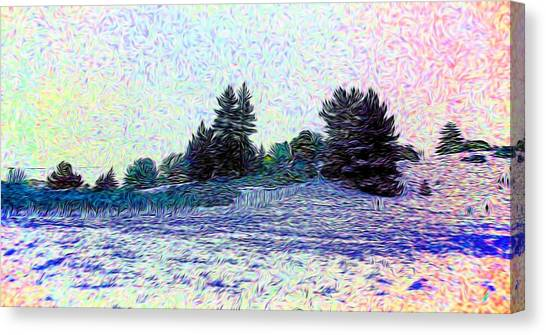 Winter Landscape 2 In Abstract Canvas Print