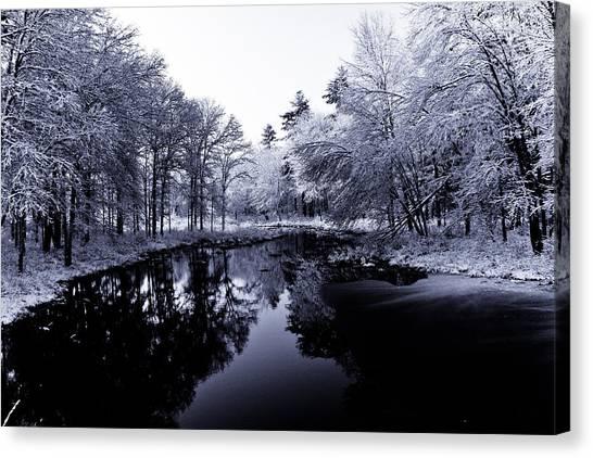 Winter Landscape  Canvas Print by Edward Myers