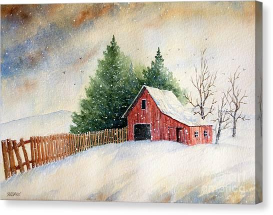 Winter Landscape IIi Canvas Print