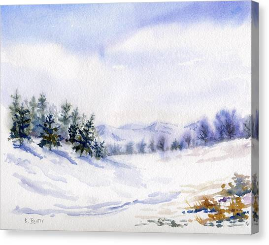 Winter Landscape Snow Scene Canvas Print