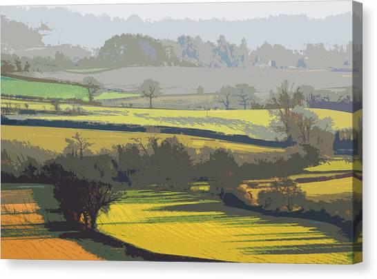 Lyth Hill 2 - Winter Light Canvas Print