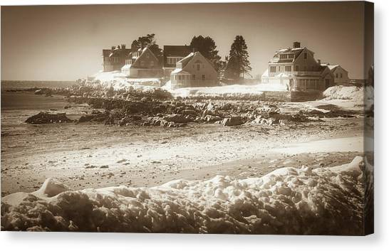Winter - Lord's Point - Kennebunk Canvas Print