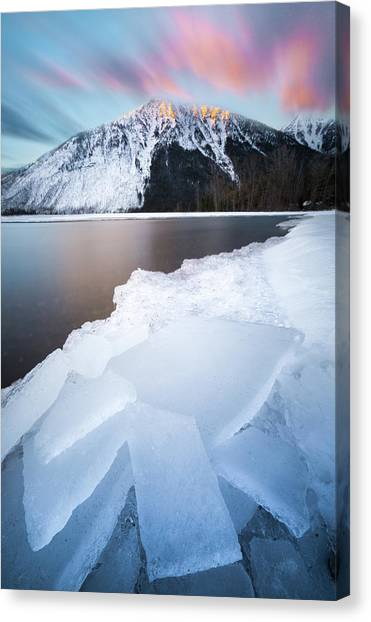 Winter Magic // Lake Mcdonald, Glacier National Park Canvas Print
