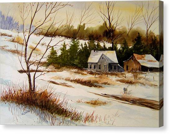 Winter Morning Canvas Print by Brooke Lyman