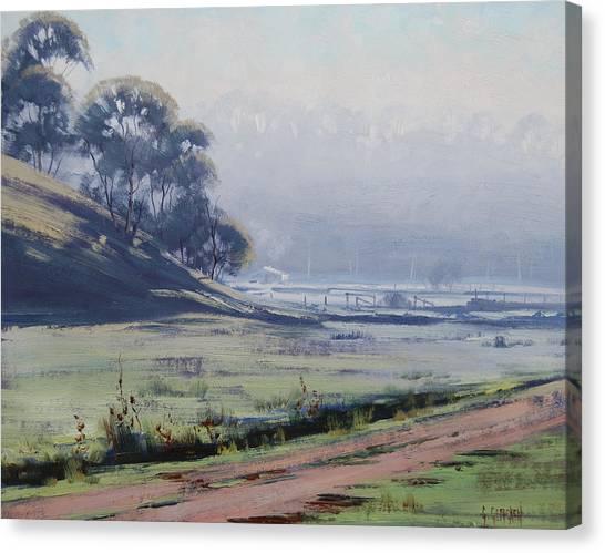 Frosty Canvas Print - Winter Morning Cottles Bridge by Graham Gercken