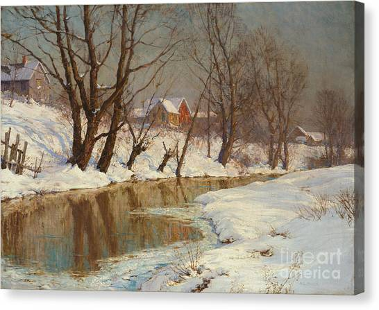 Wetlands Canvas Print - Winter Morning by Walter Launt Palmer