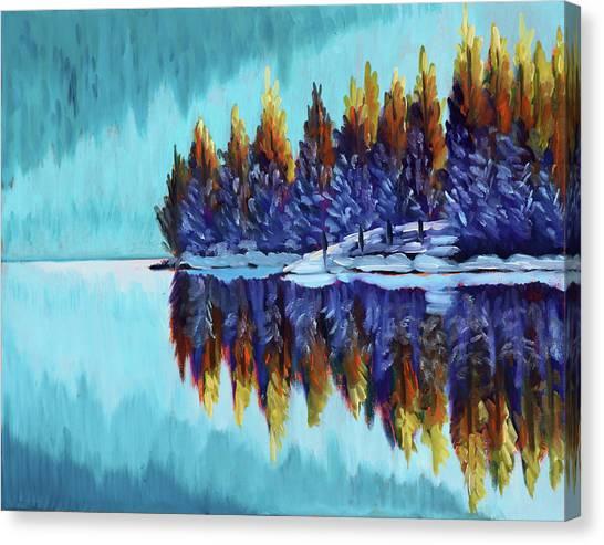 Winter - Mountain Lake Canvas Print