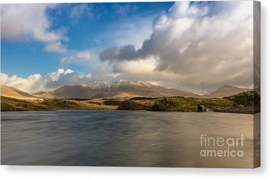 Snowdon Canvas Print - Winter Mountains by Adrian Evans