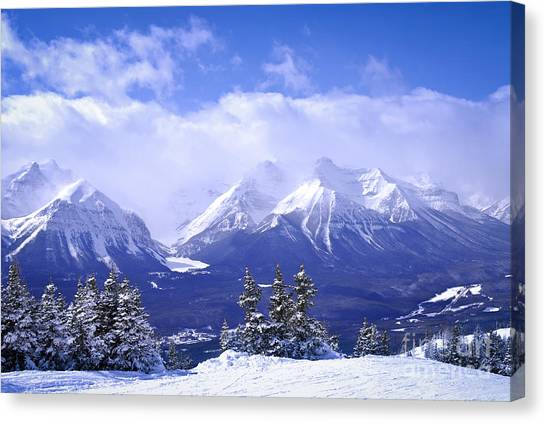 Rocky Mountain Canvas Print - Winter Mountains by Elena Elisseeva