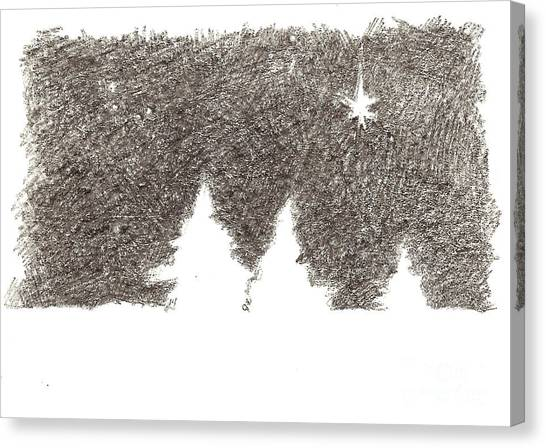 Winter Night - Aceo Canvas Print