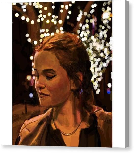 Realism Art Canvas Print - winter Nocturne #frenchgirlsapp by James Garza