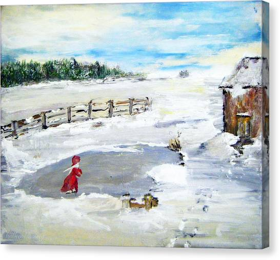 Winter Of Our Youth  Canvas Print