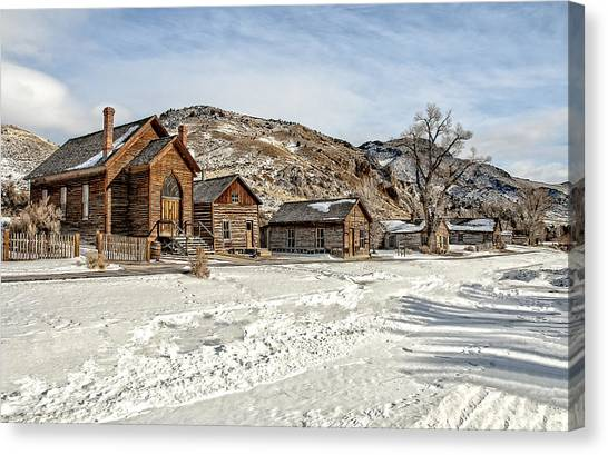 Winter On Main Street Canvas Print