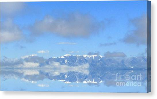 Winter On The Lake Canvas Print