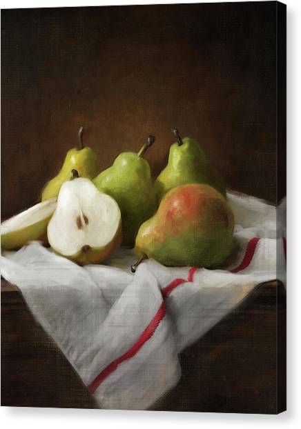 Winter Pears Canvas Print