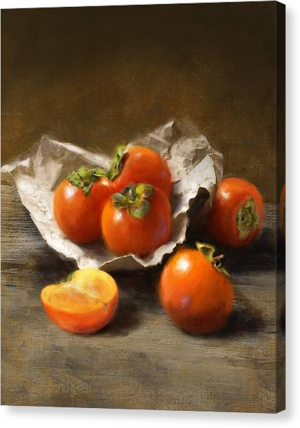 Winter Persimmons Canvas Print