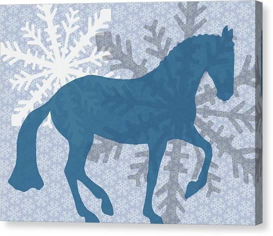 Winter Piaffe   Canvas Print by JAMART Photography