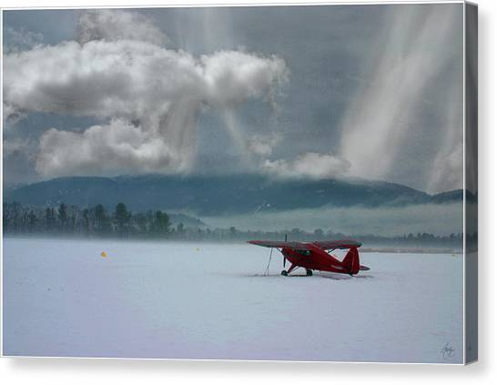 Winter Plane Canvas Print