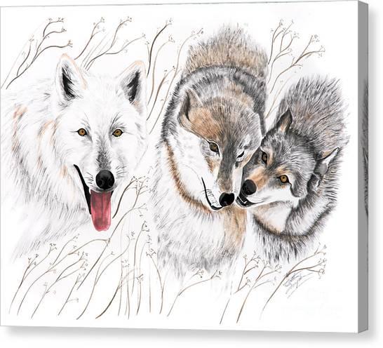 Winter Play Canvas Print