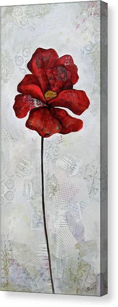 Seasons Canvas Print - Winter Poppy I by Shadia Derbyshire