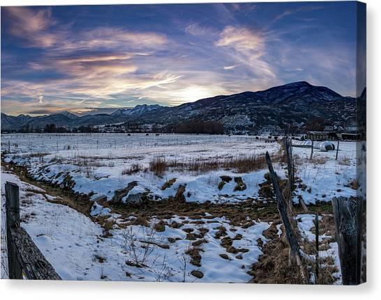 Sunset Range Canvas Print