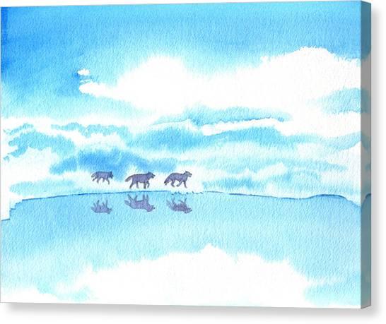Winter Reflection Canvas Print