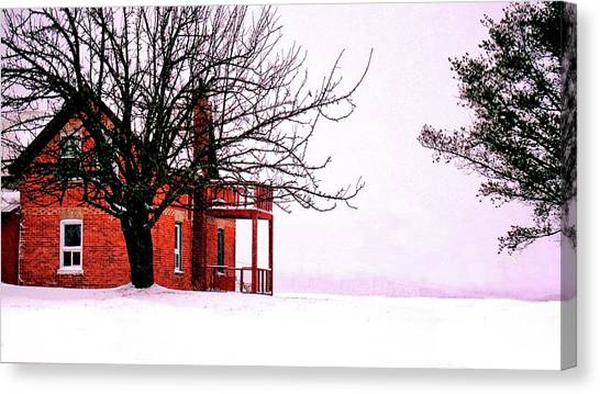 Winter Retreat Canvas Print