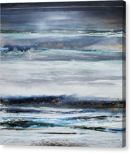 Winter Rhythms Redesdale Blue Series 2009 Canvas Print by Mike   Bell