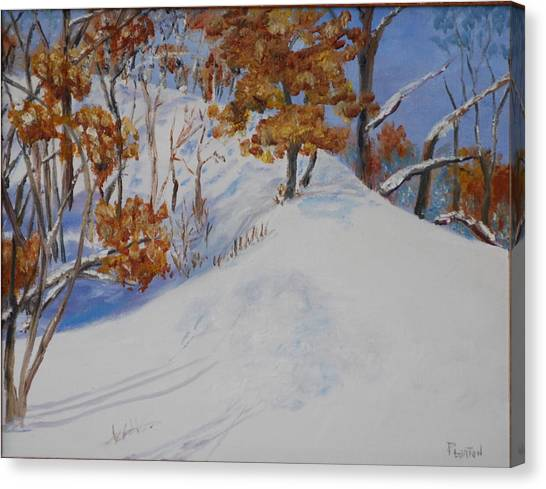 Winter Ridge Canvas Print