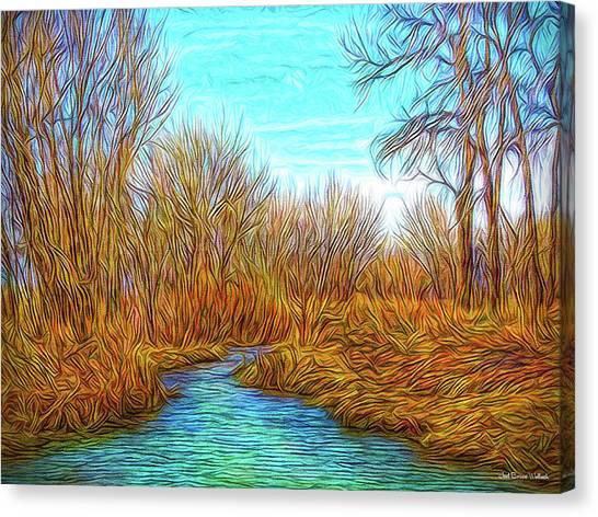 Winter River Breeze Canvas Print