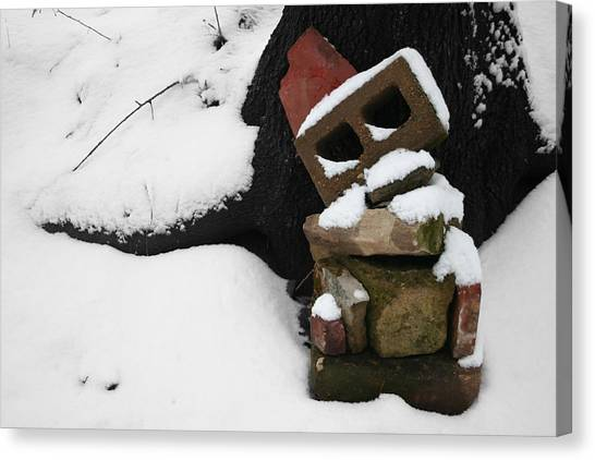 Canvas Print featuring the photograph Winter Sculpture by Dylan Punke