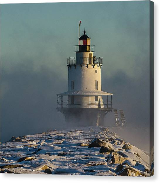 Winter On Spring Point Canvas Print