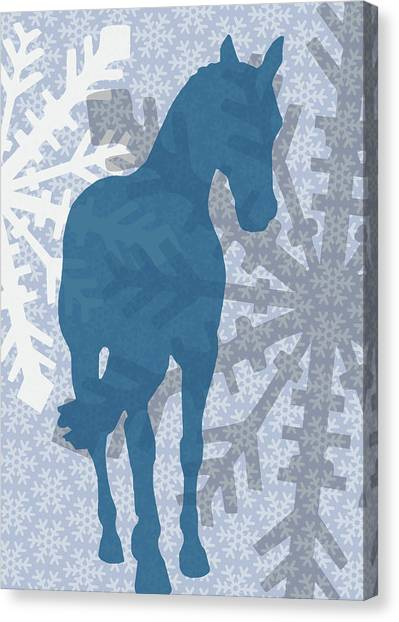 Winter Shoulder-in  Canvas Print by JAMART Photography