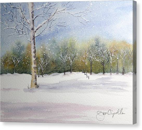 Winter Silence Canvas Print by Jan Cipolla