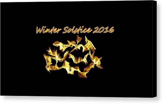 Winter Solstice Flame Canvas Print