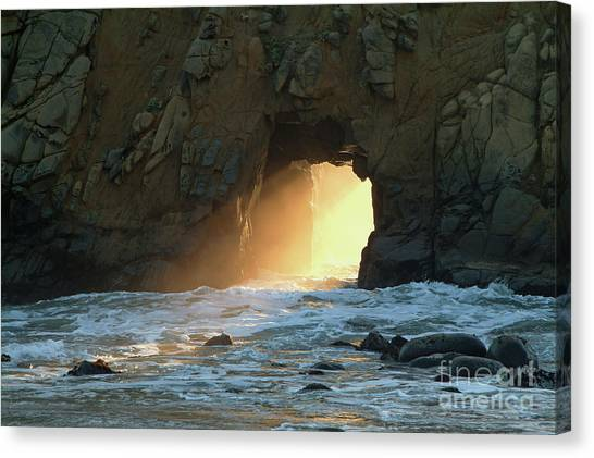 Winter Solstice Sunset In Big Sur Canvas Print